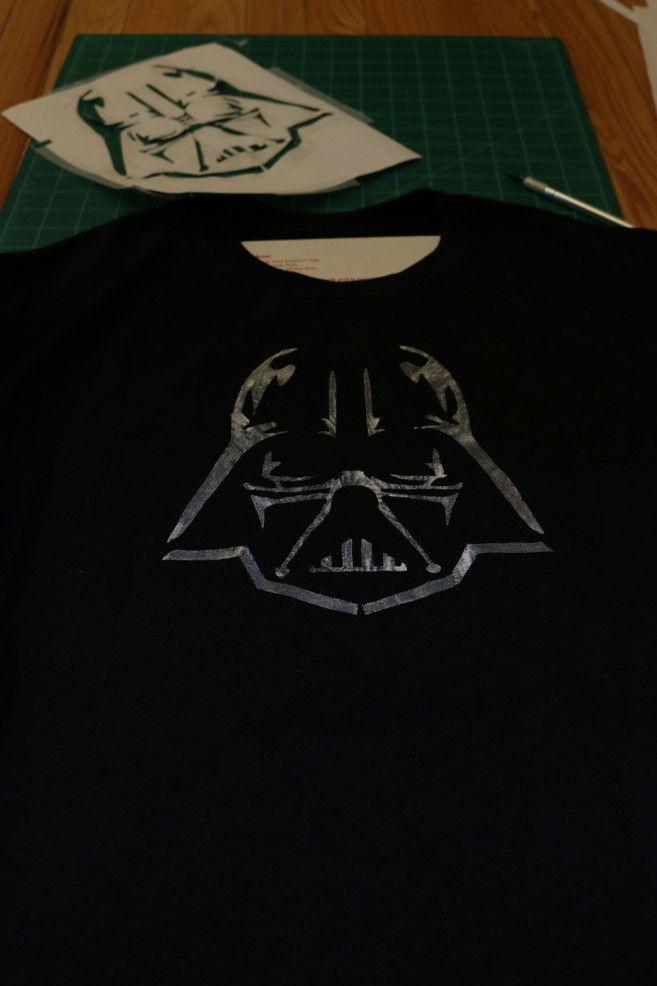 darth vader stencil star wars t-shirt design