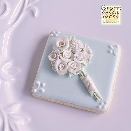 Bride's Bouquet Cookie | Cookie Connection