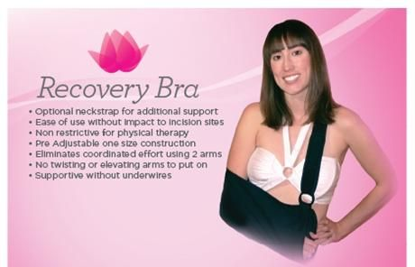 RecoveryBra! We've created a bra for you to wear after your shoulder surgery, that is easy to put on, wash and wear and help you through ...