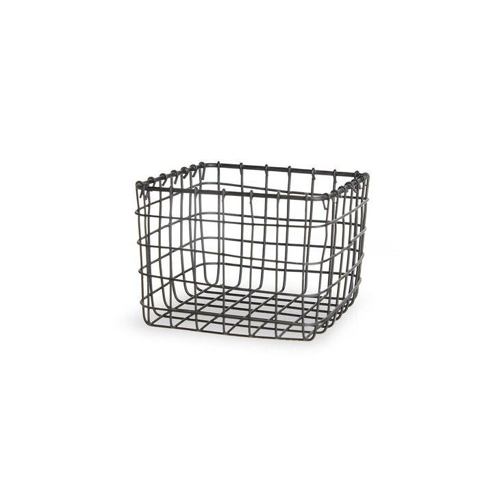 Wire basket, 11x11x8cm, black, black
