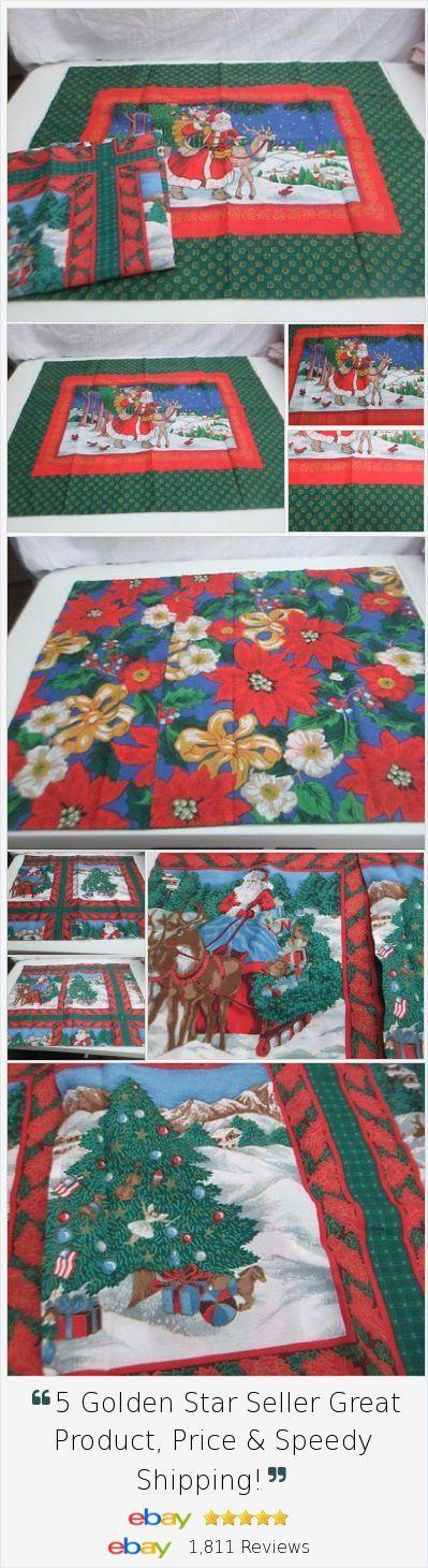 2 Christmas Xmas Holiday pillow shams 26x32 inches Santa raindeer