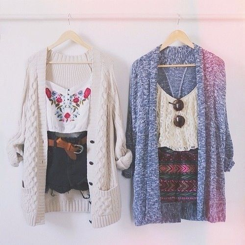 Stay cute AND warm from the #spring breeze by adding an oversized cardie to your #springoutfit <3
