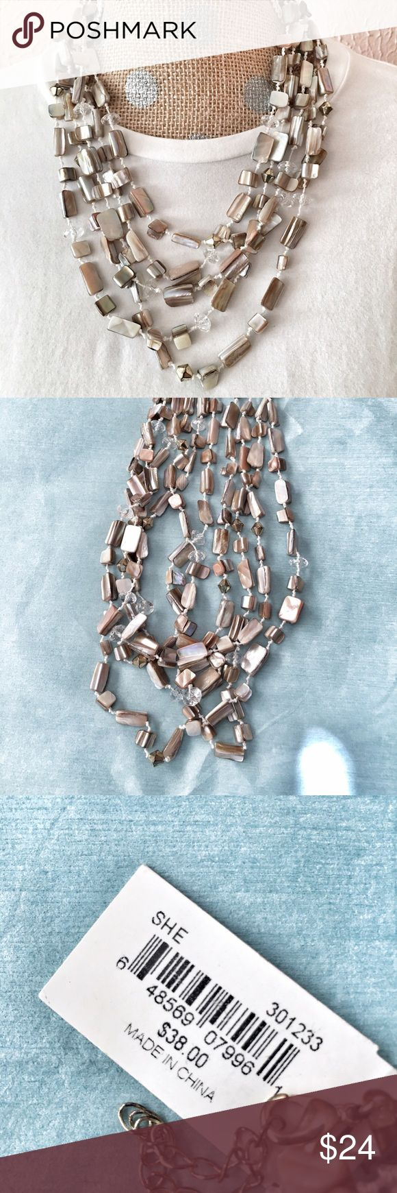 Multi-strand neutral necklace Like it now. Description coming. Erica Lyons Jewelry Necklaces