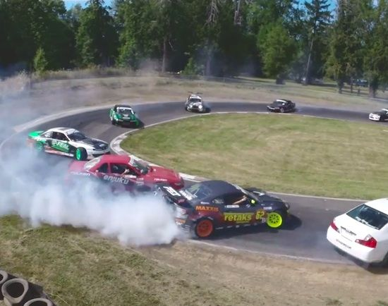 FOOTAGE OF AWESOME DRIFT RACERS PULLS OFF AN AMAZING DRIFT!