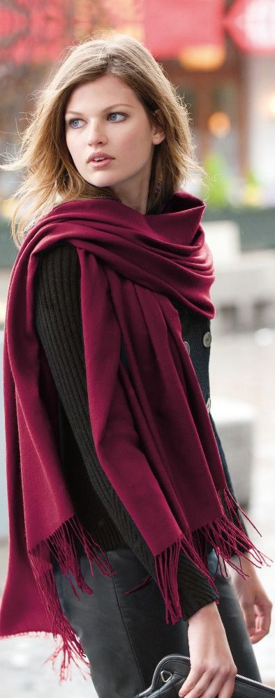 Wonderful Shawl...Plum!  I love shawls![ JCashmere.com ]