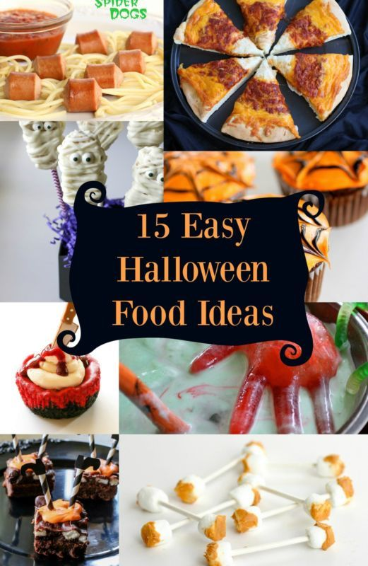 15 Easy Halloween Food Ideas for your next Halloween party. You can transform regular food into scary dishes!