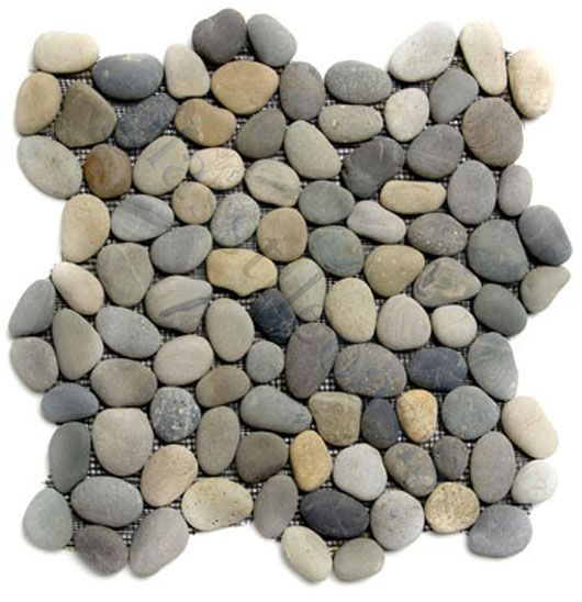 shower floor tiles: Chateau Pebbles & Stones Grey River Rock Tiles Tumbled Natural Stone