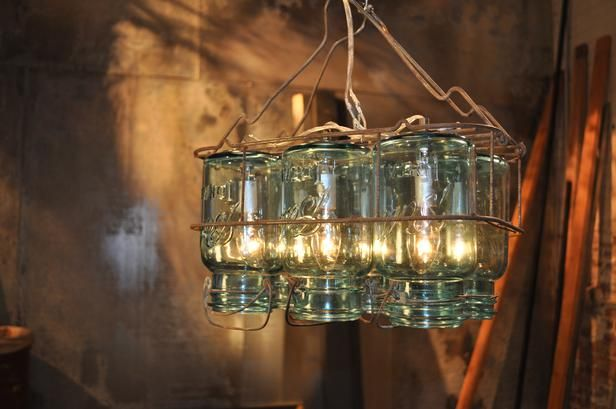11 Fun Ways to Decorate With Mason Jars and Wine Bottles:  From DIYNetwork.com from DIYnetwork.com