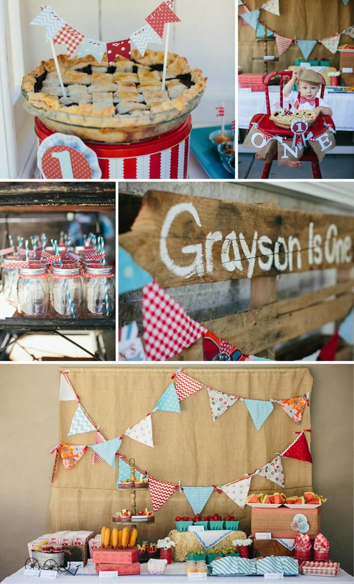County Fair Themed 1st Birthday Party with So Many Cute Ideas via Kara's Party Ideas | KarasPartyIdeas.com #CountyFair #PartyIdeas #Supplies (1)