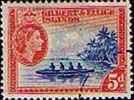 Gilbert and Ellice Islands 1956 SG 69 Ellice Islands Canoe Fine Used SG 69 Scott 66 Other Commonwealth Stamps here