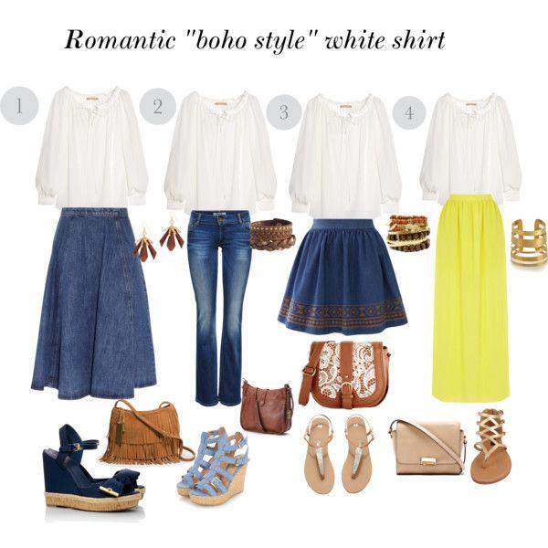 Boho style white shirt