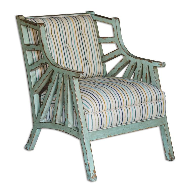 Colorful Striped Button Tufted Seat Is A Breath Of Fresh