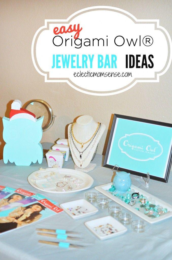 Origami Owl Jewelry Bar Ideas- clean, modern, crisp #O2Journey #OrigamiOwl #sponsored