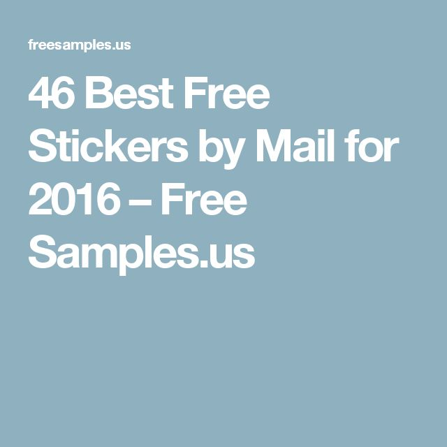 Best 25+ Free samples by mail ideas on Pinterest Free stuff by - free mail sample