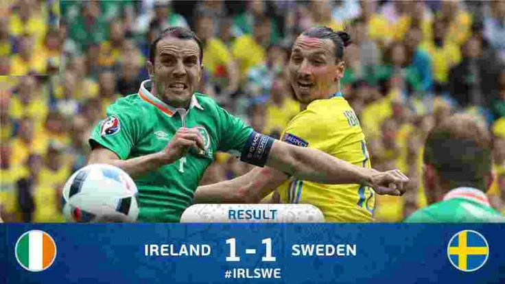 Sweden vs Ireland Uefa Euro 2016 Update