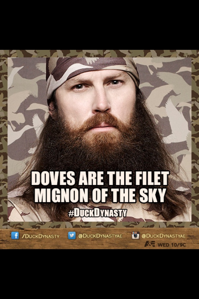 Dove Season Starts Monday!  #HRB #DuckDynasty @Harris-Robinette Beef