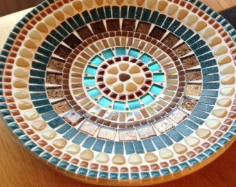 mosaic design bowlhandcrafted mosaic tray by CapolavoriDiMosaico