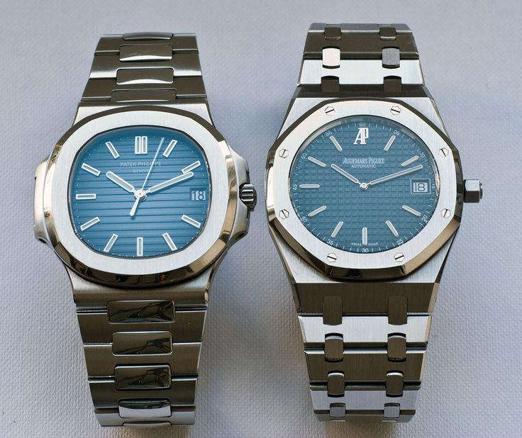70'lerden iki Gérald Genta tasarımı, iki büyük saatevi için, iki efsane: Patek Philipps Nautilus ve Audemars Piguet Royal Oak