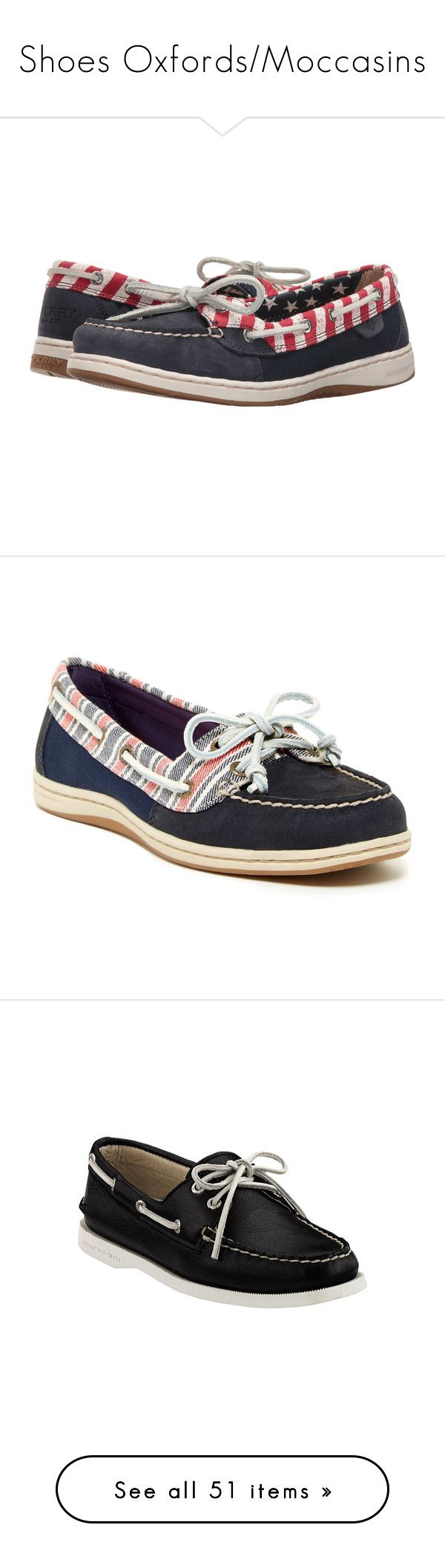 """""""Shoes Oxfords/Moccasins"""" by lululafitte ❤ liked on Polyvore featuring shoes, loafers, blue, blue boat shoes, sperry topsiders, red shoes, sperry shoes, navy blue shoes, navy and slip on shoes"""