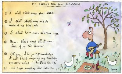 Mr Curly's new year resolutions