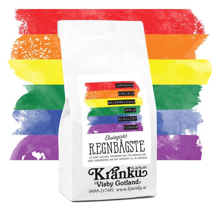 En svart, ekologisk teblandning med stor mångfald där varje regnbågsfärg har givit inspiration till en ingrediens. Ett fruktigt, svart te som innehåller bl a jordgubb, apelsin, solrosblomma, äpple, blåklint
