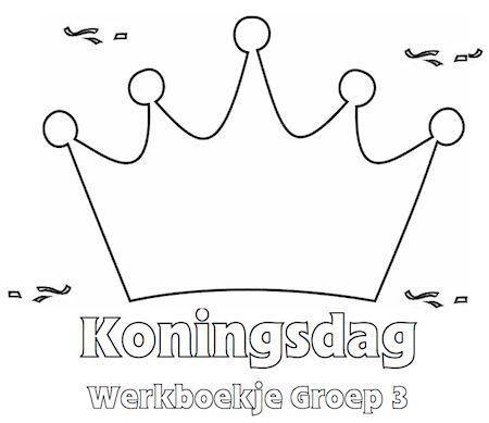 Koningsdag Werkboekje Groep 3 - Klaarwerk.nl