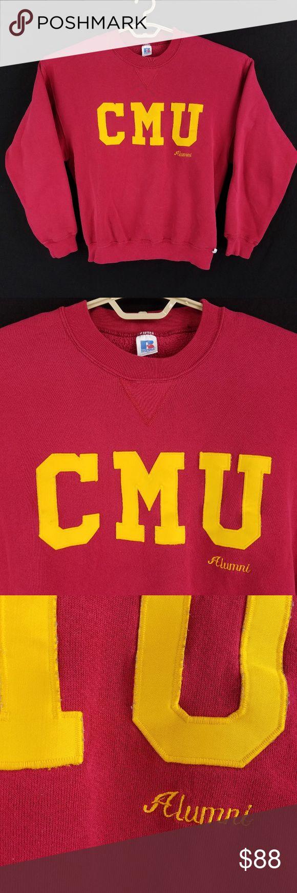 Vintage Cmu Central Michigan Alumni Sweatshirt Sweatshirts Sweatshirt Shirt Athletic Shirts [ 1740 x 580 Pixel ]