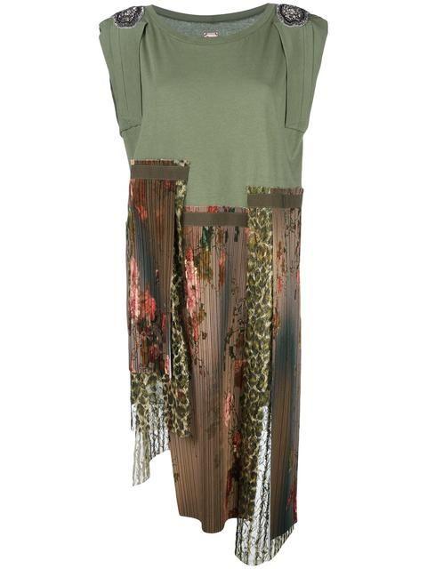 Antonio Marras асимметричное лоскутное платье