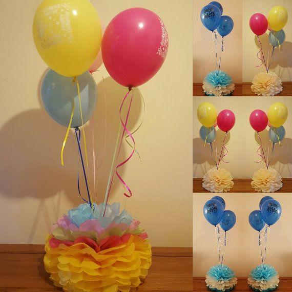 Pesas de globo grande pompones de mesa centros de mesa y