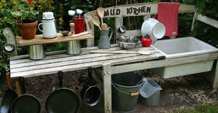 Fun ideas for outdoor mud kitchens for kids #Children, #DIY, #Fun, #ImaginativePlay, #OutdoorPlay, #Preschooler, #Toddler