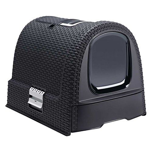 Curver Pet Life Style Hooded Litter Box scoop  filter DarkGrey -- This is an Amazon Affiliate link. More info could be found at the image url.