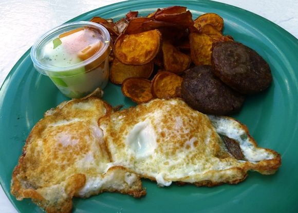Breakfast plate at the Daily Planet Cafe, Raleigh- NC Triangle Dining
