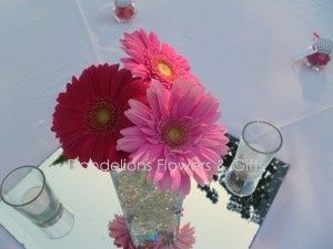 gerber daisy wedding centerpieces ideas