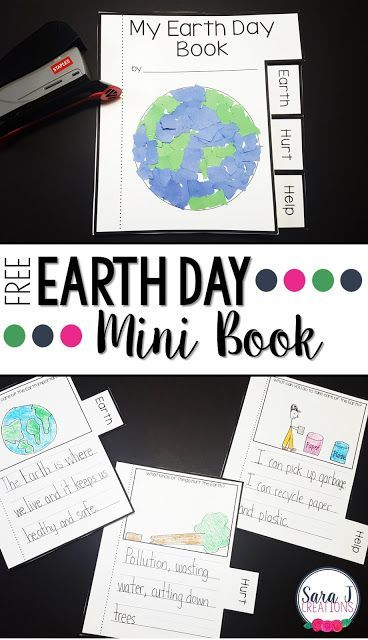 Free Earth Day Mini Book   Earth Day is coming and I've got a simple mini book that can be used in any lower elementary classroom. Each page has a prompt about the environment and a spot for students to write and draw their answers. Next they decorate the cover staple the pages and they have their own mini book about how to help the Earth.   Click here to download your free mini book  Earth Day earth day activities earth day writing prompts mini book PreK-2 Sara J Creations