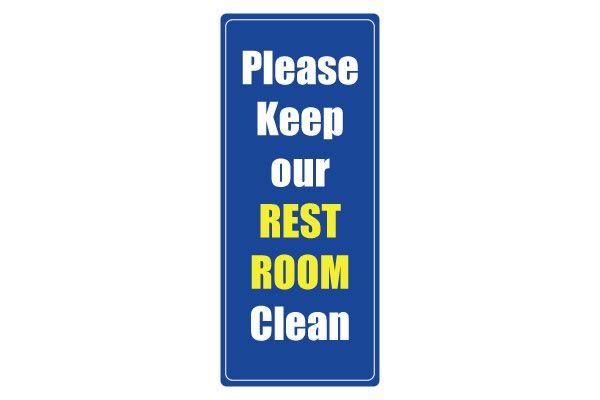 printable clean restroom signs awareness clean bathroom signs free