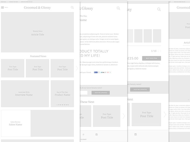 Groomed Glossy Wireframes