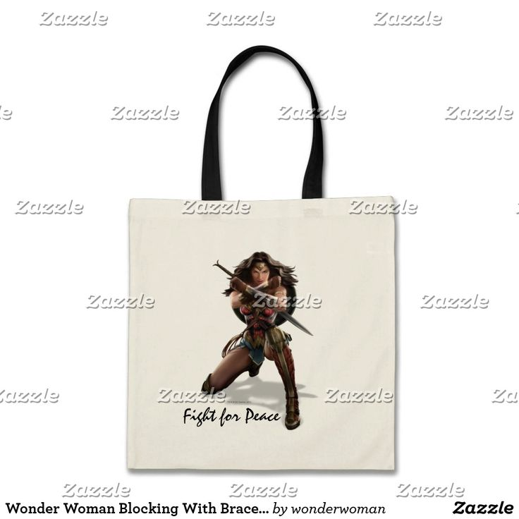 Wonder Woman Blocking With Bracelets Tote Bag. Producto disponible en tienda Zazzle. Accesorios, moda. Product available in Zazzle store. Fashion Accessories. Regalos, Gifts. #bolso #bag