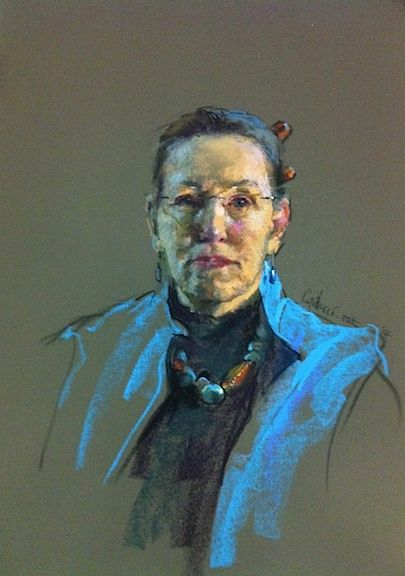 Judith Carducci, My pastels instructor. This is a self-portrait.  Google her.