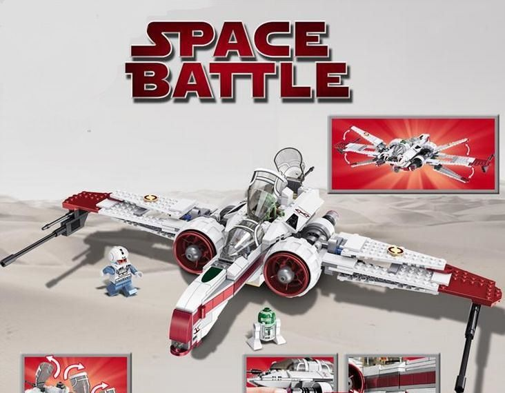 CHINA BRAND 35004 Educational Toys for children DIY Building Blocks Star Wars 8088 Arc-170 Starfighter Compatible with Lego