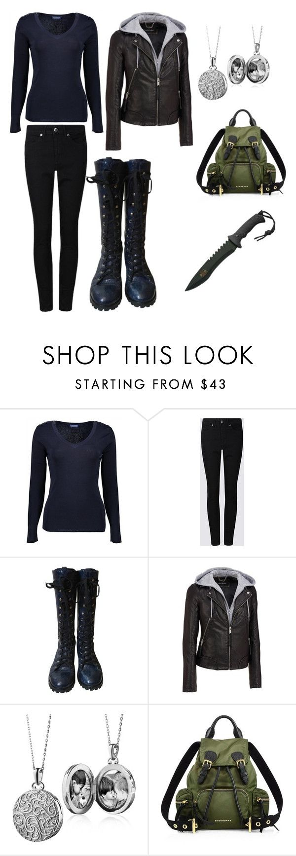 """""""Zombie outfit"""" by surfergurl081808 on Polyvore featuring Marc by Marc Jacobs, Wilsons Leather, Blue Nile and Burberry"""