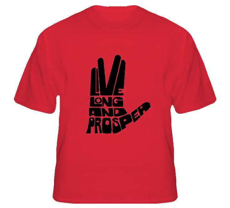 Live Long and Prosper - Spock T Shirt