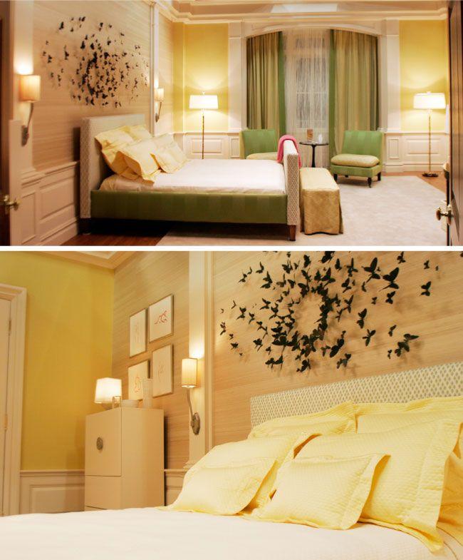 Greta 39 s new room grasscloth vs stencils it 39 s on silk for Blair waldorf bedroom ideas