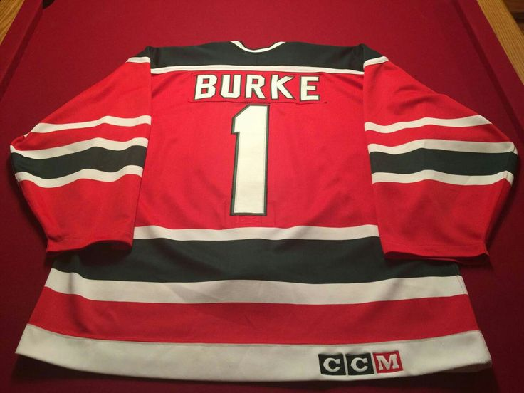 Sean Burke game worn 1990-1991 jersey. Jersey came from Bill Watters, he used to be an agent and the Leafs Asst GM when Fletcher was there.