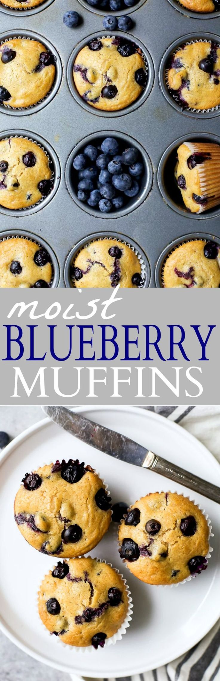 An easy homemade Blueberry Muffin Recipe the family will love.Moist Blueberry Muffins bursting with blueberry flavor! A perfect breakfast or after school snack option!