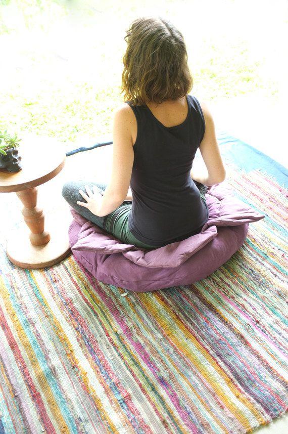 LOTUS CUSHION // MEDITATION Cushion // by CrystalotusCreations, $80.00