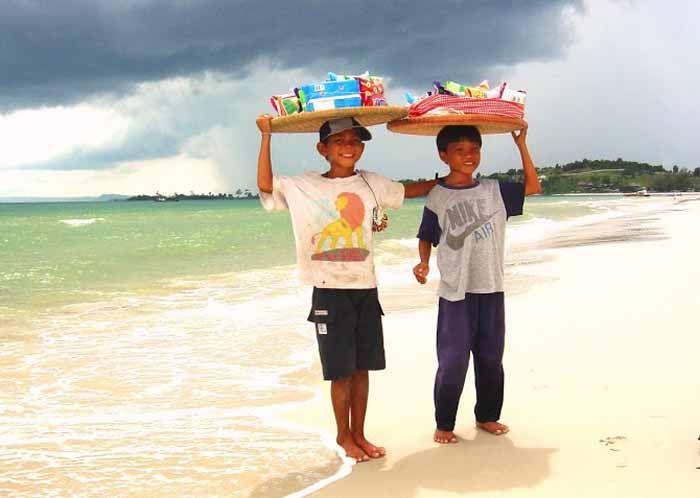 Aan de stranden van Zuid-Cambodja.
