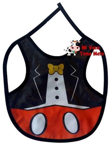 Baberos Para Comer Doble Proteccion Modelo Mickey Mouse - $ 60,00