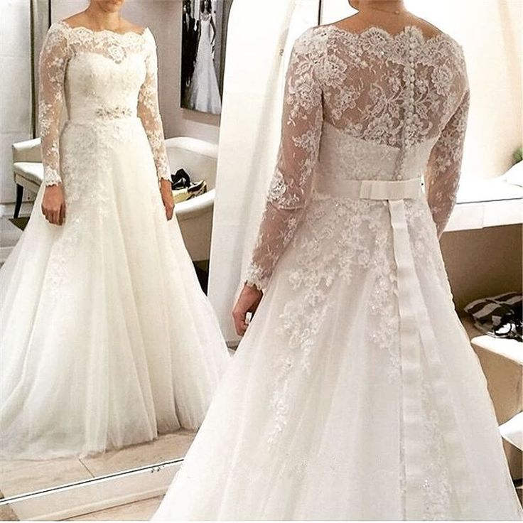 Simple Design Scoop Neck Long Sleeve Long A Line Tulle: Best 25+ Curvy Wedding Dresses Ideas On Pinterest