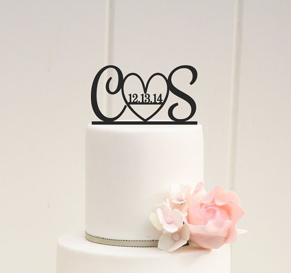 Hey, I found this really awesome Etsy listing at https://www.etsy.com/listing/164470097/initials-and-heart-wedding-cake-topper   #cake #cake topper #sweettooth #weddingdj #mikebdjmc #mbeventdjs