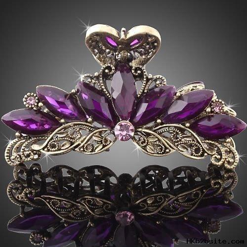 Vintage_Purple_Crystals_fashion_Hair_Pin_Claw.